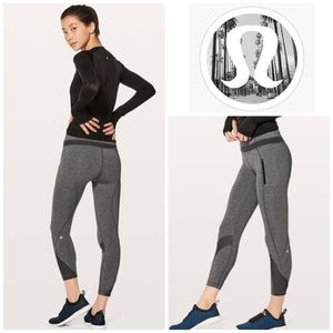 Lululemon Inspire Tights II - Heathered Black